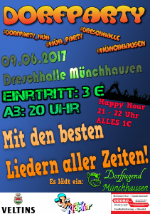 Flyer Dorfparty